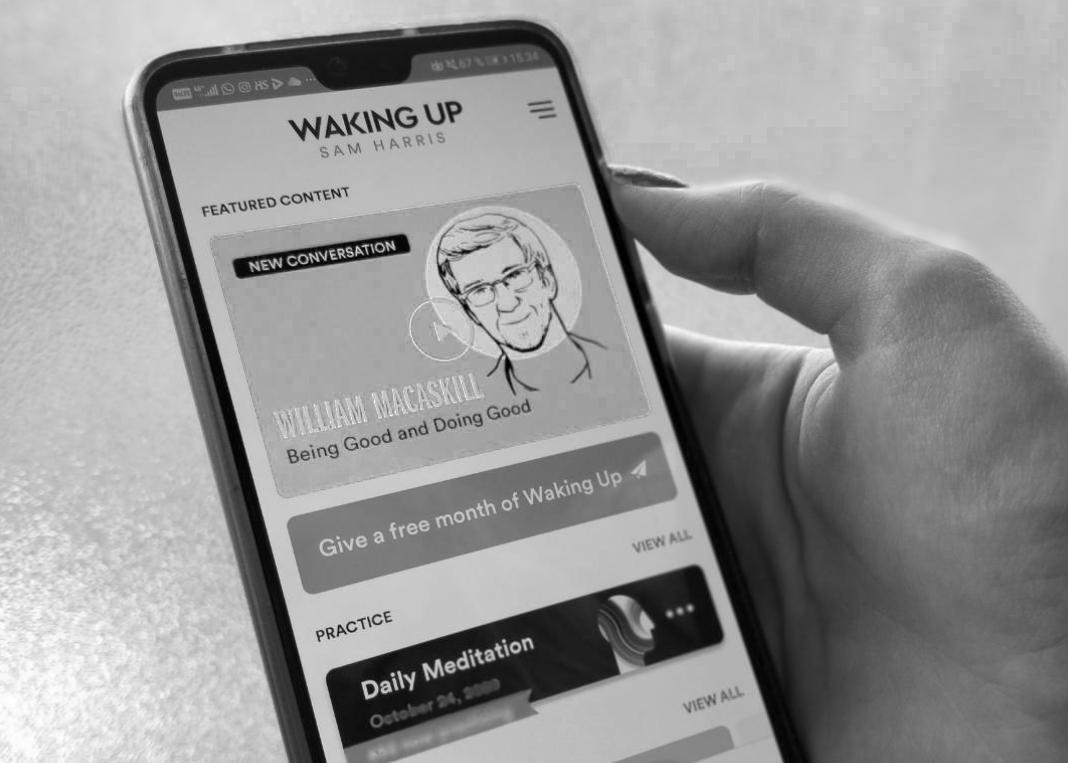 Teologi testaa: Waking up-meditaatiosovellus